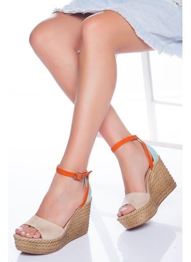 Derithy Derithy-Dolgu Topuklu Ayakkabı-Multi 3 Renkli